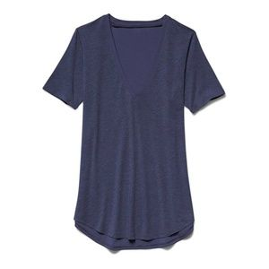 Under Armour Womens Plunge V-Neck T-Shirt Ink Blue